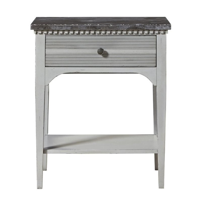 Universal Furniture Sojourn Nightstand In Gray Lake And Blue Stone
