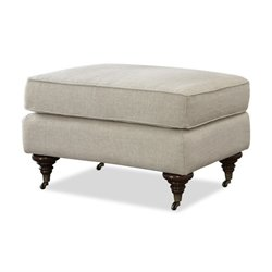 Universal Furniture Churchill Upholstered Ottoman in Linen