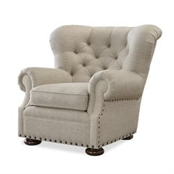 Universal Furniture Maxwell Upholstered Arm Chair in Linen