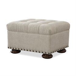 Universal Furniture Maxwell Upholstered Ottoman in Linen