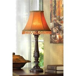 Zingz and Thingz Beaded Leaf-Motif Table Lamp