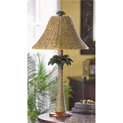 Zingz and Thingz Palm Tree Rattan Table Lamp