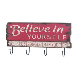 Zingz and Thingz Believe In Yourself Wall Hook