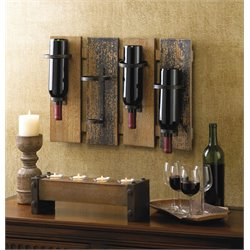 Zingz and Thingz Rustic Wine Wall Rack