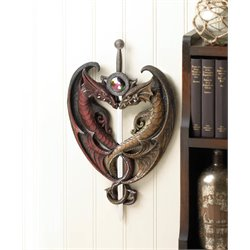 Zingz and Thingz Dueling Dragons Sword Wall Plaque