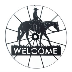 Zingz and Thingz Cowboy Welcome Wheel Sign