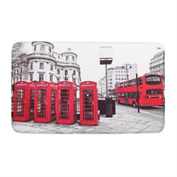 Zingz and Thingz London Floor Mat in Red