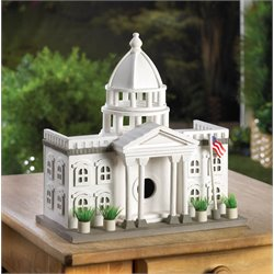 Zingz and Thingz White House Birdhouse