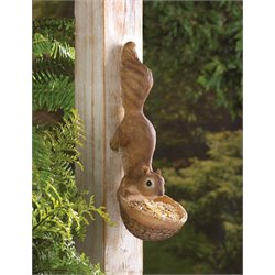 Zingz and Thingz Scurrying Squirrel Bird Feeder in Brown