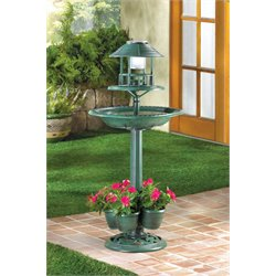 Zingz and Thingz Birdbath Planter