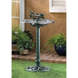 Zingz and Thingz Verdigris Bird Bath