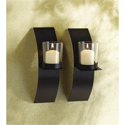 Zingz and Thingz Mod-Art Candle Sconce Duo