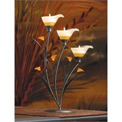 Zingz and Thingz Amber Lilies Tealight Holder