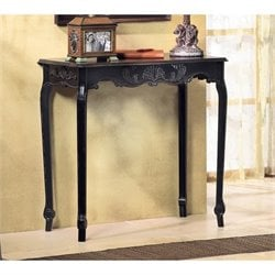 Zingz and Thingz Scallop Detail Hall Table in Black