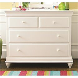 Smartstuff Classics 4.0 6 Drawer Single Dresser in Summer White