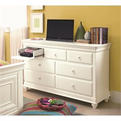 Smartstuff Classics 4.0 7 Drawer Dresser in Summer White
