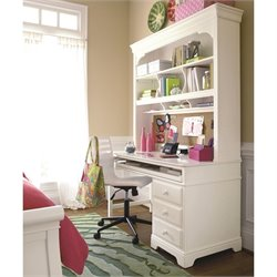 Smartstuff Classics 4.0 Computer Desk and Hutch in Summer White