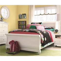 Smartstuff Classics 4.0 Sleigh Bed in Summer White - Twin