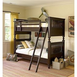 Smartstuff Paula Deen Guys Twin Over Twin Bunk Bed in Molasses