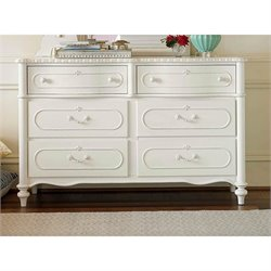 Smartstuff Bellamy 6 Drawer Dresser in Daisy White