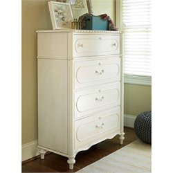Smartstuff Bellamy 4 Drawer Chest in Daisy White
