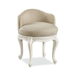 Smartstuff Bellamy Swivel Vanity Accent Chair in Daisy White
