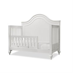 Smartstuff Bellamy Convertible Toddler Rail Crib in Daisy White