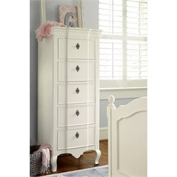 Smartstuff Genevieve Tall 5 Drawer Chest in French White