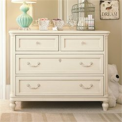 Smartstuff Gabriella 4 Drawer Wood Dresser in Lace