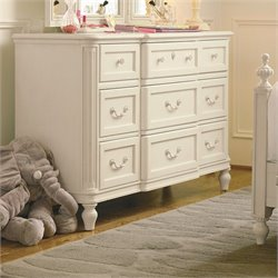 Smartstuff Gabriella 9 Drawer Wood Dresser in Lace
