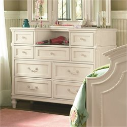 Smartstuff Gabriella 9 Drawer Wood Dressing Chest in Lace