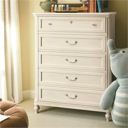 Smartstuff Gabriella 5 Drawer Wood Chest in Lace