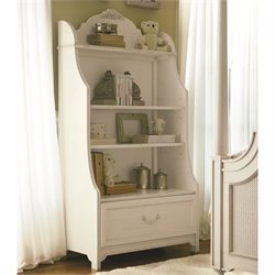 Smartstuff Gabriella 4 Shelf Wood Bookcase in Lace