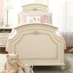 Gabriella Wood Full Panel Bed in Lace