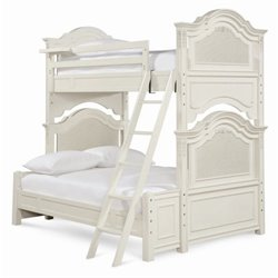 Smartstuff Gabriella Wood Twin Over Full Bunk Bed in Lace