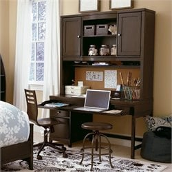 Smartstuff Freestyle 2 Drawer 2 Door Wood Hutch Desk in Mocha
