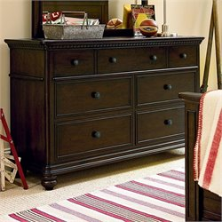 Smartstuff Paula Deen Guys 7 Drawer Wood Dresser in Molasses