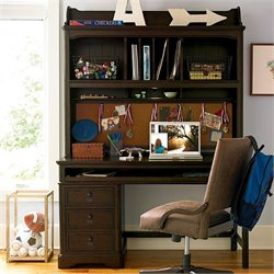 Smartstuff Paula Deen Guys 3 Drawer Henry's Hutch Desk in Molasses