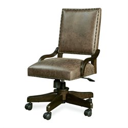 Smartstuff Paula Deen Guys Leather Henry's Desk Chair in Molasses