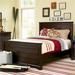 Smartstuff Paula Deen Guys Wood Full Panel Bed in Molasses