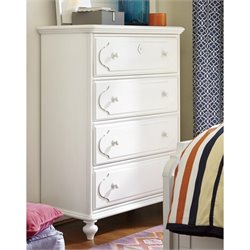Smartstuff Black and White 4 Drawer Chest in White