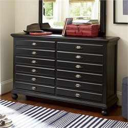 Smartstuff Black and White Map Drawer Dresser in Black