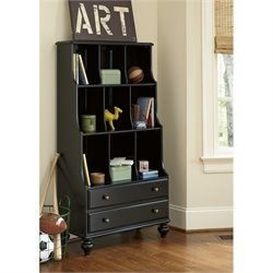 Smartstuff Black and White Bookcase in Black