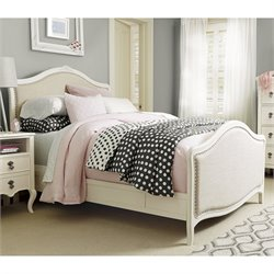 Smartstuff Genevieve's Wood Upholstered Full Bed in French White