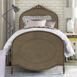 Smartstuff Genevieve's Ma Cherie Metal Twin Bed in Antique Pewter