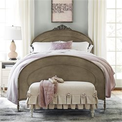 Smartstuff Genevieve Ma Cherie Metal Full Bed in Antique Pewter