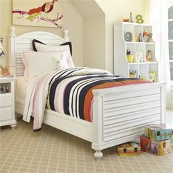 Smartstuff Black & White Wood Reading Twin Bed in White