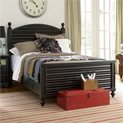 Smartstuff Black & White Wood Reading Full Bed in Black