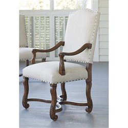Paula Deen Home Dogwood Upholstered Dining Arm Chair in Low Tide