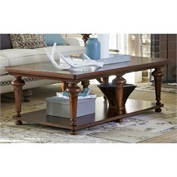 Paula Deen Home Dogwood Coffee Table in Low Tide